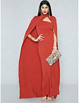 Недорогие -Жен. Изысканный Уличный стиль Облегающий силуэт Оболочка Русалка Платье - Однотонный Макси