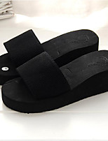 cheap -Women's Shoes EVA Summer Comfort Slippers & Flip-Flops Wedge Heel Round Toe for Black Red