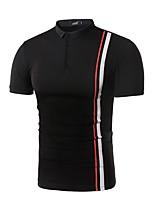 cheap -Men's Active Basic Polo - Striped Color Block