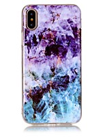 abordables -Funda Para Apple iPhone X iPhone 8 Ultrafina Funda Trasera Mármol Suave TPU para iPhone X iPhone 8 Plus iPhone 8 iPhone 7 Plus iPhone 7