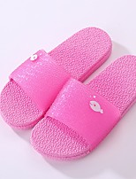 cheap -Women's Shoes PVC Leather Summer Comfort Slippers & Flip-Flops Flat Heel for Purple Fuchsia Peach
