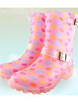 Недорогие -Мальчики / Девочки Обувь Кожа ПВХ  Осень / Зима Резиновые сапоги Ботинки для Черный / Синий / Розовый