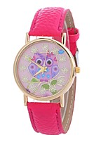 cheap -Women's Quartz Fashion Watch Chinese Large Dial PU Band Casual Owl Black Blue Red Brown Green Pink Rose