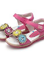 Недорогие -Девочки Обувь Дерматин Лето Обувь для малышей Сандалии Бусины для Дети / Дети (1-4 лет) Белый / Пурпурный