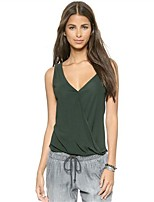 cheap -Women's Active Tank Top-Solid Colored,Backless