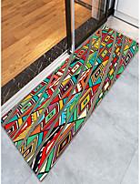 baratos -Tapetes para Porta / Tapetes Anti-Derrapantes / Os tapetes da área Clássico / Tradicional Flanela, Retângular Qualidade superior Tapete