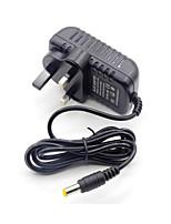 Недорогие -1шт 12V AU UK с разъемом постоянного тока Конвертер EU US Электрический разъем Электрическая вилка Адаптер питания пластик для