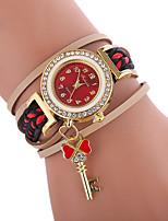 abordables -Mujer Cuarzo Reloj de Moda Chino Reloj Casual PU Banda Bohemio Moda Negro Blanco Azul Rojo Marrón
