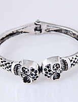 cheap -Men's Women's Skull Cuff Bracelet - Vintage Fashion European Silver Bracelet For Daily