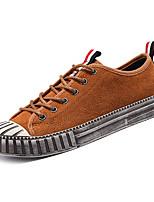 Недорогие -Муж. обувь Искусственное волокно Весна / Лето Удобная обувь Кеды Черный / Коричневый / Хаки