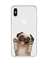 Недорогие -Кейс для Назначение Apple iPhone X / iPhone 8 Plus С узором Кейс на заднюю панель С собакой / Животное / Мультипликация Мягкий ТПУ для iPhone X / iPhone 8 Pluss / iPhone 8
