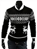 Недорогие -Муж. Активный Пуловер - Геометрический принт