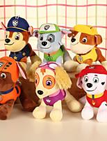 Недорогие -Собаки Животный принт Мягкие и плюшевые игрушки удобный Милый Подарок 4pcs