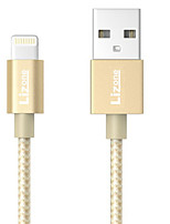 cheap -Lightning USB Cable Adapter Quick Charge High Speed Cable For iPhone 100cm Nylon