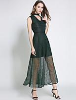 cheap -SHIHUATANG Women's Sophisticated Street chic A Line Dress - Solid Colored, Lace
