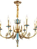 Недорогие -ZHISHU 8-Light Свеча-стиль Люстры и лампы Торшер - Хрусталь, Мини, 110-120Вольт / 220-240Вольт Лампочки включены / 20-30㎡