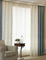 abordables -Rideaux Tentures Salle de séjour Couleur Pleine Coton / Polyester Teinture