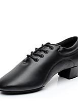 Недорогие -Муж. Обувь для модерна Дерматин На каблуках В помещении / Профессиональный стиль На низком каблуке Персонализируемая Танцевальная обувь