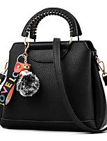 cheap -Women's Bags PU Shoulder Bag Feathers / Fur for Event / Party Casual All Seasons Black Gray Wine