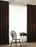 cheap -Curtains Drapes Living Room Solid Colored Cotton / Polyester Yarn Dyed