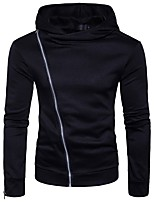 cheap -Men's Active Basic Hoodie - Solid Colored