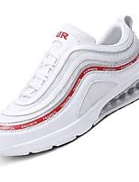 Недорогие -Муж. обувь Сетка / Тюль Лето Удобная обувь / Светодиодные подошвы Кеды Беговая обувь / Для прогулок Белый / Черный / Серый