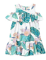 cheap -Kids Girls' Floral Short Sleeves Dress