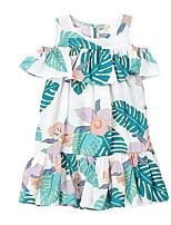 Недорогие -Дети Девочки Цветочный принт С короткими рукавами Платье