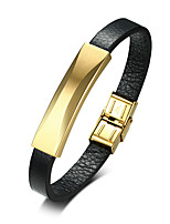 cheap -Men's Leather Cool Leather Bracelet - Casual Fashion Circle Black Bracelet For Daily Going out
