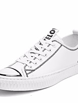 Недорогие -Муж. обувь Дерматин Весна / Осень Удобная обувь Кеды Белый / Черно-белый / Черный / Красный
