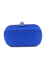 cheap -Women's Bags PVC Metal Evening Bag Crystal Detailing for Wedding Event/Party Formal All Seasons Blue