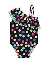 cheap -Girls' Boho Polka Dot Swimwear, Rayon Sleeveless Light Green