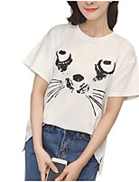 cheap -Women's Basic T-shirt - Geometric, Print