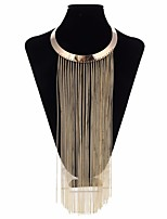 cheap -Women's Choker Necklace Statement Necklace  -  Metallic Steampunk Circle Gold 40cm Necklace For Bar Club