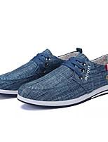 Недорогие -Муж. обувь Полотно Весна / Осень Удобная обувь Кеды Серый / Синий / Светло-синий