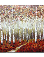 abordables -Pintura al óleo pintada a colgar Pintada a mano - Abstracto Paisaje Contemporáneo Modern Lona