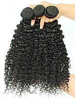 cheap -Brazilian Hair Kinky Curly Human Hair Extensions 3 Bundles 8-28inch Human Hair Weaves Extention / Hot Sale Natural Black All
