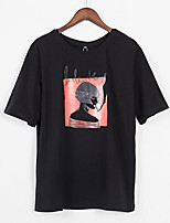 cheap -Women's Street chic T-shirt - Portrait
