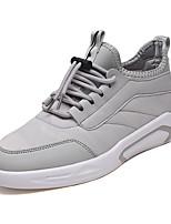 Недорогие -Муж. обувь Ткань Весна / Осень Удобная обувь Кеды Белый / Черный / Серый
