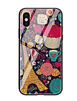 abordables -Coque Pour Apple iPhone X iPhone 8 Motif Coque Tour Eiffel Dur Verre Trempé pour iPhone X iPhone 8 Plus iPhone 8 iPhone 7 iPhone 6s Plus