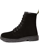 abordables -Mujer Zapatos PU Otoño Invierno Botas de Combate Botas Tacón Bajo Dedo redondo Botines / Hasta el Tobillo para Casual Negro Fucsia