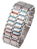 cheap -Men's Digital Watch Chinese New Design / Chronograph / Creative Stainless Steel Band Luxury / Bangle Black / Silver