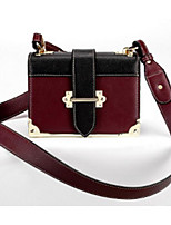 cheap -Women's Bags Cowhide Shoulder Bag Buttons for Casual Spring Fall Black Brown Wine