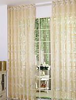 baratos -Sheer Curtains Shades Quarto Desenho Animado Algodão / Poliéster Estampado