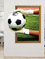 cheap -Wall Decal Decorative Wall Stickers - Plane Wall Stickers Football 3D Re-Positionable Removable