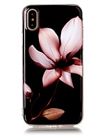 cheap -Case For Apple iPhone X iPhone 8 Ultra-thin Back Cover Flower Soft TPU for iPhone X iPhone 8 Plus iPhone 8 iPhone 7 Plus iPhone 7 iPhone