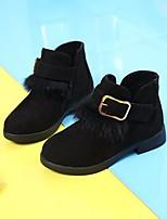 Недорогие -Девочки Обувь Полиуретан Зима Ботильоны Удобная обувь Ботинки для Повседневные Черный Серый Винный