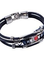 cheap -Men's Cool Bracelet - Black Bracelet For Daily Club