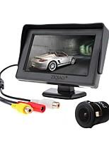 baratos -ZIQIAO 4.3 Polegadas TFT-LCD CCD Com Fio 170 Graus Kit de visão traseira do carro Impermeável para Carro
