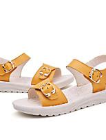 preiswerte -Mädchen Schuhe Leder Sommer Komfort Sandalen für Normal Gelb Blau Rosa